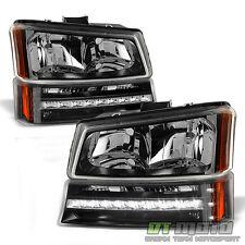 2003-2006 Chevy Silverado 1500 2500 Avalanche Headlights LED Bumper Signal Lamps