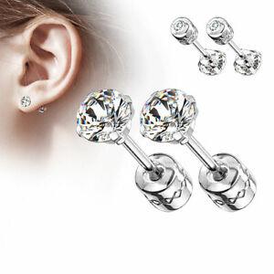 1 Paar Edelstahl Ohrstecker Ohrringe Gesundheit Medizin Stecker Kristall