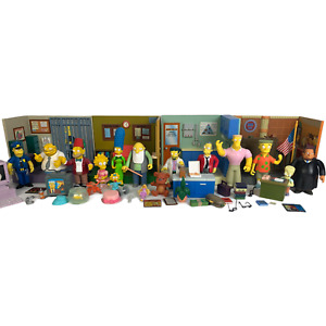 The Simpsons Playmates World of Springfield Large Lot 13 Characters Buildings