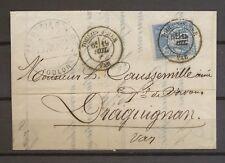 1879 Lettre 15c sage Obl CAD Type 18 TOULON-S-MER VAR TB. X3561