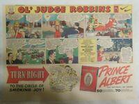 Prince Albert Tobacco Ad: OL' Judge Robbins Oklahoma Oil Fields from 1930's