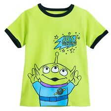 Disney Pixar Toy Story Green ALIEN T- Shirt- Boys Size 7/8 - NEw w/tags free shi