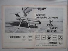 1/1964 PUB BRITISH AIRCRAFT ONE-ELEVEN BRANIFF AER LINGUS CAA COMPAS SPANISH AD