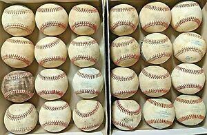 2 dozen used baseballs (leather & synthetic)