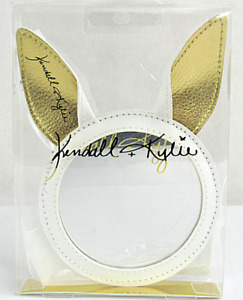 Kendall & Kylie Gold Bunny Ear Cosmetic Makeup Mirror White