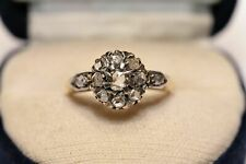 925 Sterling Silver Ring For Women Antique Victorian 0.55 Ctw Rose Cut Diamond