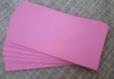 *BRAND NEW* 25 X DL Pink Envelopes 220mm x 110mm. Self Seal. Round flap.