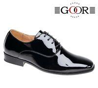 MENS Formal Wedding - Shiny Black Patent Tie Shoes - Size 6 7 8 9 10 11 12 13 14