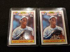 2 KEN GRIFFEY JR. 1990 TOPPS GLOSSY 1989 ROOKIES #11 MARINERS CARD *MINT* HOF