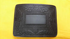 Men's Thistle Kilt Belt Buckle Black Finish/Kilt Belt Buckle Thistle Emblem