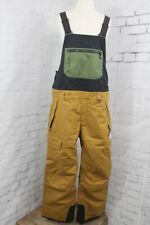 686 Hot Lap Insulated Bib Snowboard Pants Men's Large, Golden Brown New 2020