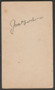 Joe Gordon Autographed Index Card JSA Authenticated Rare and HTF Hall of Fame