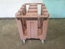 """""""Cambro Dc575"""" H.D. Commercial 5½"""" Plate/Saucer Carrier/Holder Poly Cart/Caddy"""