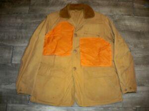 Vintage Sears Roebuck Hunting Jacket Coat 1950's JC Higgins Canvas Large Rare