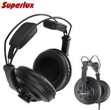 Superlux HD668B Studio Headphones Over Ear Professional DJ Monitoring Earphones