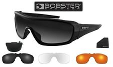 Bobster Enforcer Sunglasses Motorcycle Biker Riding Glasses Three Lenses