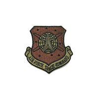 U.S. Air Force Space Command OCP Spice Brown W/Hook fastener Patch (ea)