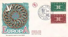 FRANCE 1963 FDC EUROPAYT 1396 ET 1397