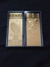 Miami Dolphins Super Bowl VII and VIII 22kt Gold Ticket Set (NEW)