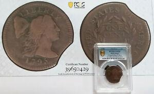 1795 Large Cent Plain Edge-Mint Error Rim Clip-PCGS VF20 WITH 8X10 PHOTO BCS/429