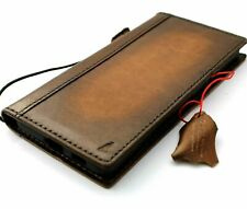 Genuine Leather Case for Samsung Galaxy A51 Wallet Book Luxury Tan Vintage 5G
