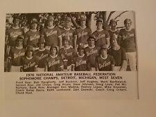Detroit West Seven & Tokyo Japan Chofu 1976 Baseball Team Picture