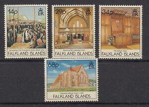 Îles Falkland 557 - 60 Christ Cathédrale Port STANLEY (MNH)