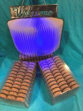Designer cork Rings Pricing 120 Pcs chocolate Brown Top light center