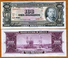 Bolivia, 100 Bolivares, 1945, Pick 147, aUNC