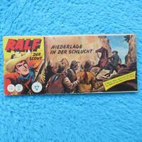 """RALF Nr 100  Der Scout  """"NIEDERLAGE IN DER SCHLUCHT"""" Piccolo Lehning 1961 Z1 Z2"""
