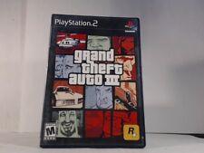 GRAND THEFT AUTO III --- PLAYSTATION 2 PS2 Complete CIB w/ Box, Manual