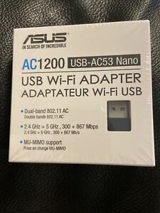 ASUS USB-AC53 Nano Dual-Band Wireless-AC1200 802.11ac USB Wi-Fi Adapter