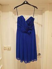 After Six Dessy Sapphire Strapless Dress