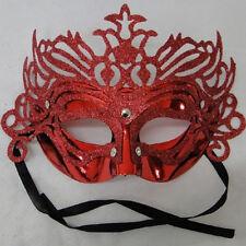 RED Mascherina da notte maschere con di glitter scintillanti VENEZIANO CARNEVALE PARTY