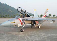"""Escala 1/12 F-18 Hornet empujador Prop 55""""WS cero construir R/c Plane Plans"""