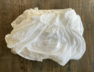 Pottery Barn Cotton Bed Skirt White King Size