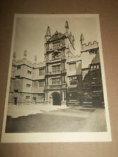 BODLEIAN LIBRARY OXFORD ( TOWER OF THE FIVE ORDERS ) B&W PHOTO POSTCARD