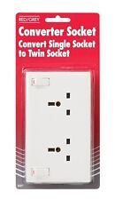 Single To Double Socket Converter 1 Gang To 2 Gang Switched 13AMP Sockets