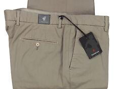 RODRIGO pantalone uomo cotone custom fit beige scuro cotton trousers men 56 (42)
