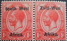South West Africa 1923 GV 1d pair SG 2 mint