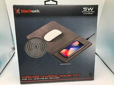 Blackweb Wireless Charging Mouse Pad LED Charging Lights Comfortable Brand New