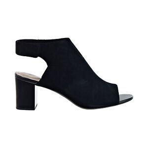 Clarks Deva Bell (Wide) Women's Heeled Sandal Black 26140001-W