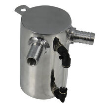 UNIVERSAL 0.5L ALUMINUM OIL CATCH CAN BREATHER TANK RESERVOIR POLISHED