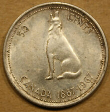 1967 CANADA SILVER 50 CENT COIN LOT NF48