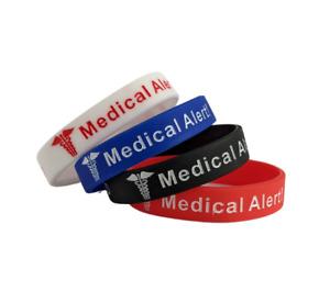 x2 PACK Warfarin Anticoagulant Medical Alert Wristband Bracelet Blood Thinner UK