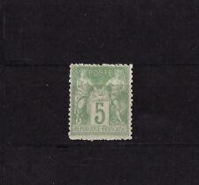 timbre France   Sage   5c  vert jaune    num: 102    neuf  **