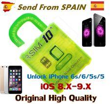 NEW R-SIM 10+ PLUS RSIM Unlock Card for iPhone 6S 6S+ 6 6+ 5 5S 5C iOS 9.X