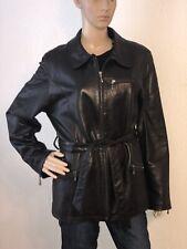 Valerie Stevens Women's New Zealand Lambskin Genuine Black Leather Jacket Size M