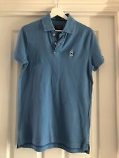 Abercrombie And Fitch Light Blue Mens Polo Shirt S