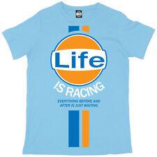 Batch1 'LIFE IS RACING' Mens T-Shirt - Steve McQueen Vintage Retro Fashion Print